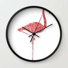 Colorful Flamingos Pink Flamingo Wall Clock