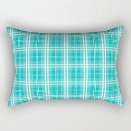 Aqua Blue Tartan Scottish Clan McTiff Rectangular Pillow