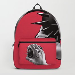 Painful Experiment With Stabbed Hand | Horror Art Backpack
