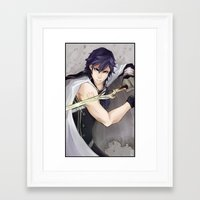 fire emblem awakening Framed Art Prints featuring Chrom -Fire Emblem Awakening- by Xizeta