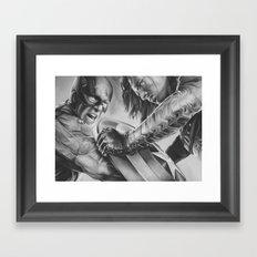 captain vs soldier Framed Art Print