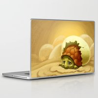 sea turtle Laptop & iPad Skins featuring turtle by Antracit
