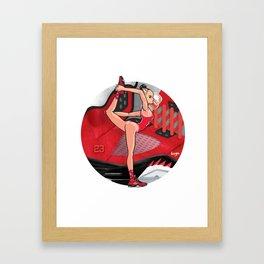 Yoga girl Cool Noodle and Ranging Bulls Framed Art Print