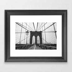 Brooklyn Bridge 3 Framed Art Print