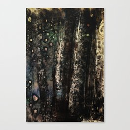 NIGHT IN THE WINTER WOODS Canvas Print