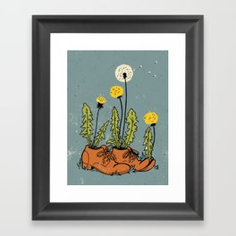 Dandy Shoes Framed Art Print