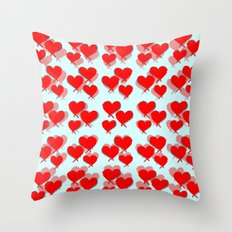 My Hearts Throw Pillow