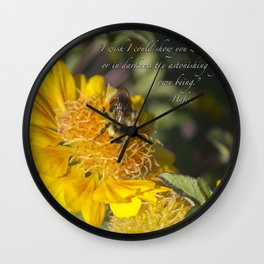 Light of Your Own Being Wall Clock