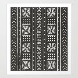 Another black mud cloth Art Print