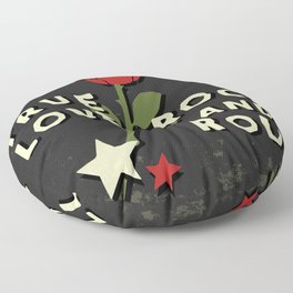 Grunge rock slogan print Floor Pillow