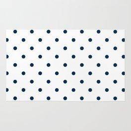 Navy Blue & White Polka Dots Rug