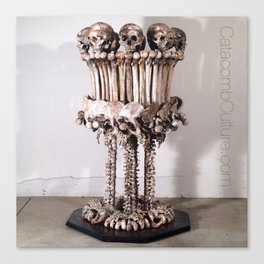 Catacomb Culture - Skull and Bone Lamp Canvas Print
