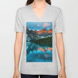 Lake Louise - Alberta, Canada Landscape Unisex V-Neck