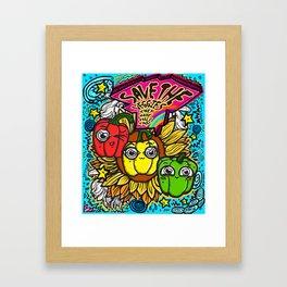 Save the Veggies! - Bellpeppers Framed Art Print