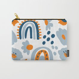 Hygge Blue Flowers And Rainbow Meadow  Carry-All Pouch