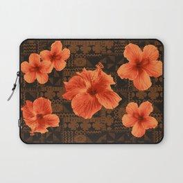 Kalalau Tapa Hawaiian Hibiscus Vintage Inspired Print Laptop Sleeve