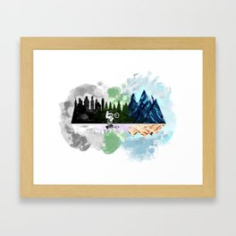 Go to The Mountains Framed Art Print