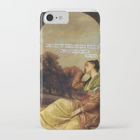 jane austen iPhone & iPod Cases featuring jane austen  by Emily P
