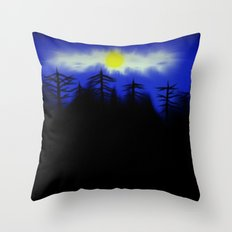 Spooky Forest Engulfs The Light Throw Pillow