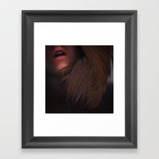 I Sigh Your Name Alone In The Dark Framed Art Print