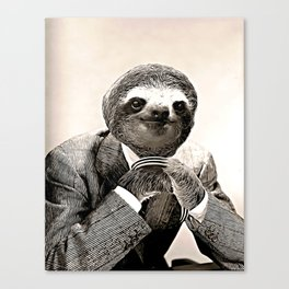 Gentleman Sloth with Assorted Pose Canvas Print