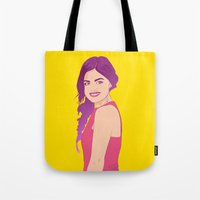 pretty little liars Tote Bags featuring Pretty little liars - Lucy Hale by Lais Design