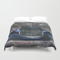 mercedes Duvet Covers featuring Old Merc by Cozmic Photos