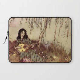 Beauty Had A Brave Heart By Edmund Dulac Laptop Sleeve