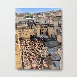 The Tannery, Fez, Morocco Metal Print