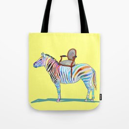animals with chairs #4 Chair on a Zebra Tote Bag
