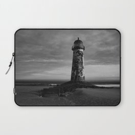 Talacre Lighthouse Black And White Laptop Sleeve