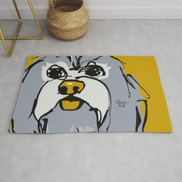Lulz - gray/yellow Rug