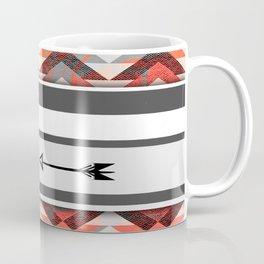 270 Coral Bohemian and Arrows Coffee Mug