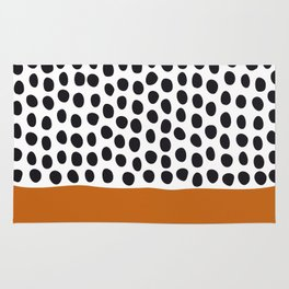 Classy Handpainted Polka Dots with Autumn Maple Rug