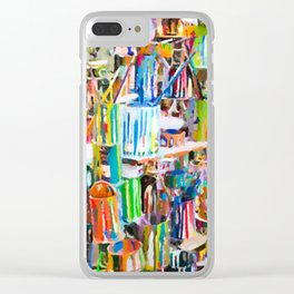 A lot dirty brushes in a bucket Clear iPhone Case