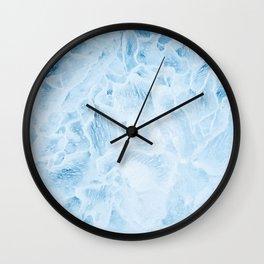 Light blue ice pattern Wall Clock
