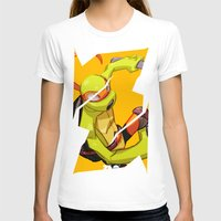 mike wrobel T-shirts featuring Mike TMNT by zeoarts
