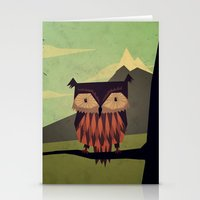 yetiland Stationery Cards featuring Owl by Yetiland