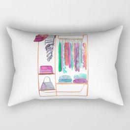 Watercolour Clothing Rack Rectangular Pillow