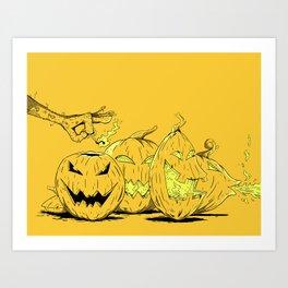 Jack O' Lanterns Art Print