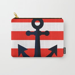 Simple anchor on red Carry-All Pouch