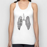 lungs Tank Tops featuring Lungs by Alexander.Leake