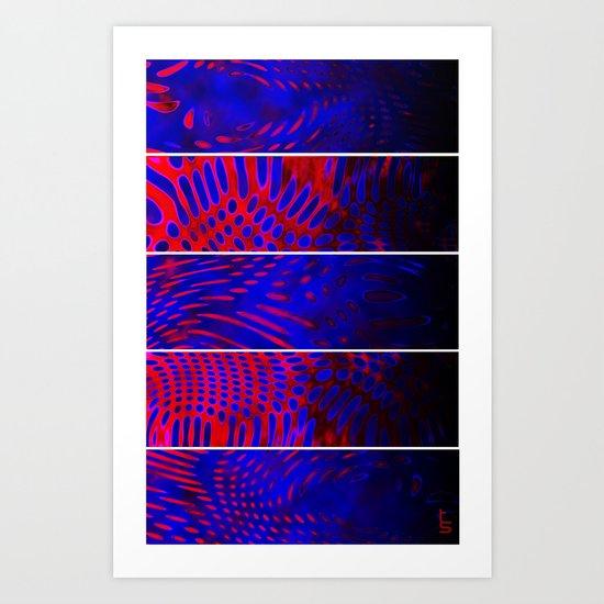 Bio Rhythm III (Five Panels Series) Art Print