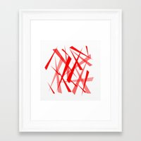 chaos Framed Art Prints featuring chaos by Sébastien BOUVIER