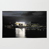 steelers Area & Throw Rugs featuring City of Champions by Alyson Cornman Photography