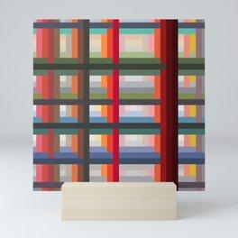Lovely Trendy Retro Grid Moroi Mini Art Print