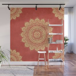 Golden mandala Wall Mural