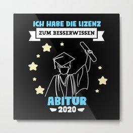 Abitur 2020 Graduation Gift Metal Print