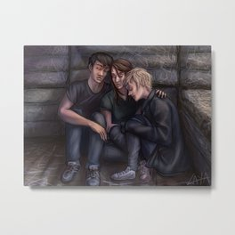 David, Reese and Amber. Metal Print