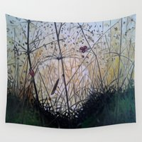 ladybug Wall Tapestries featuring ladybug by tidjitestudio